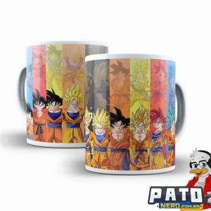 Caneca Dragon Ball – Goku Transformações #05